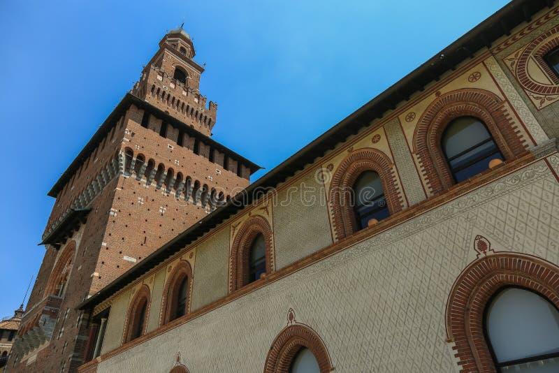 Castelo de Sforzesco, Milão imagem de stock royalty free