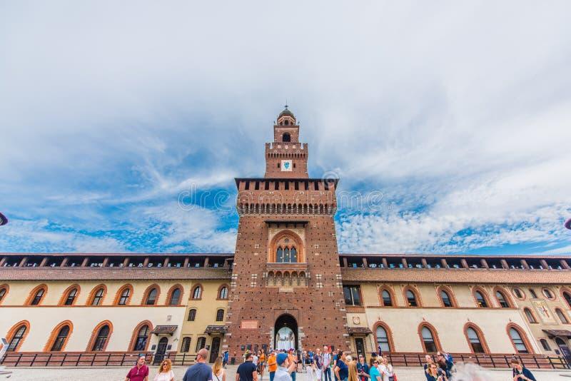 Castelo de Sforzesco de Milão, Itália imagem de stock