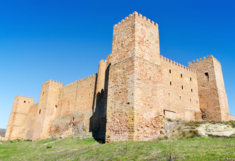 Castelo de Siguenza, fortaleza velha em Guadalajara, Espanha imagem de stock royalty free