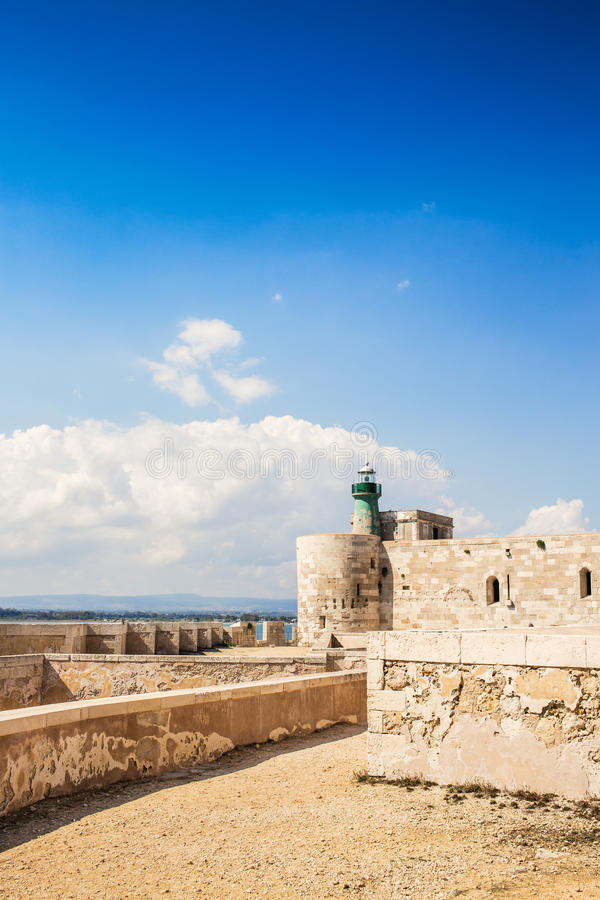 Castelo de Siracusa fotografia de stock
