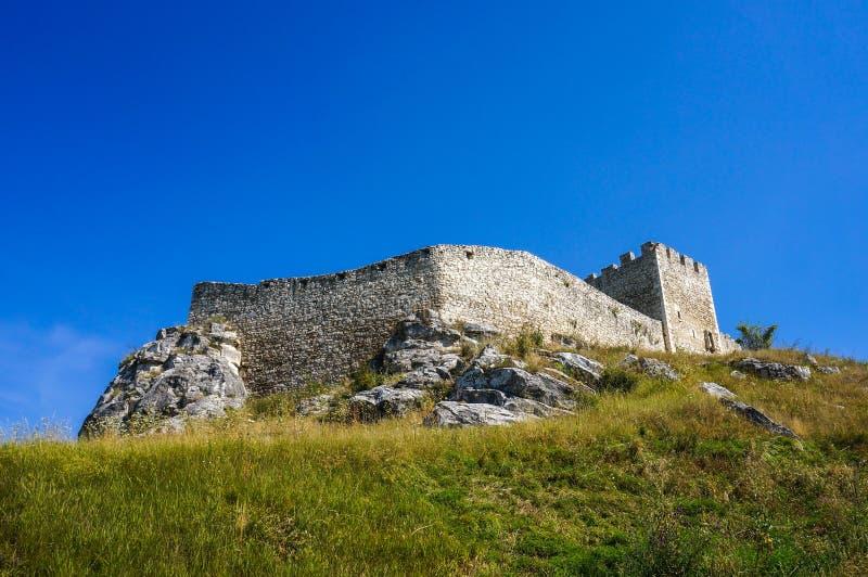 Castelo de Spis em Eslováquia fotos de stock royalty free
