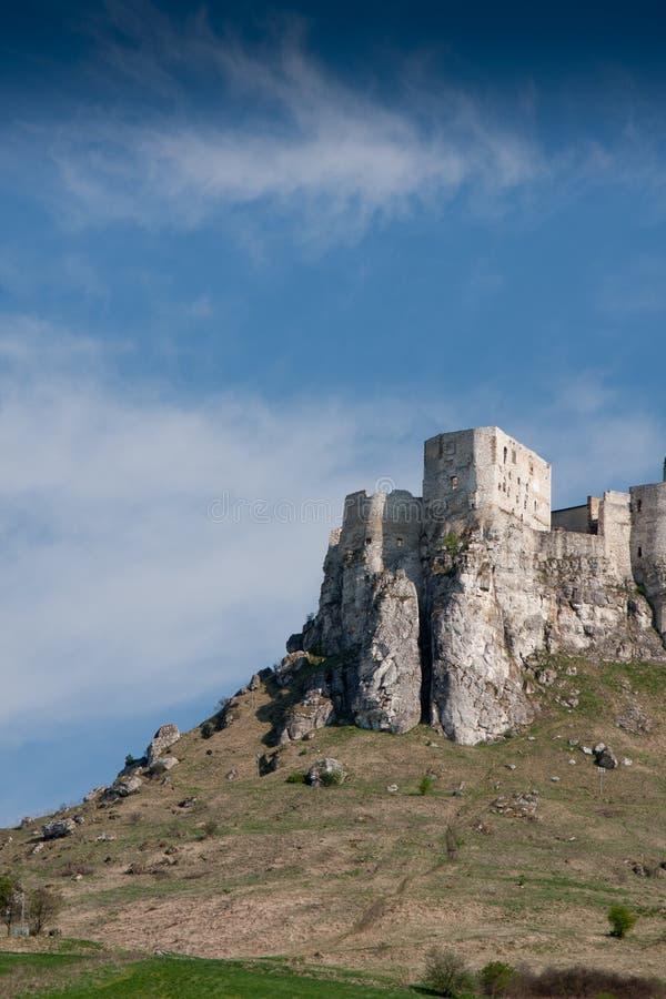 Castelo de Spissky, Slovakia imagem de stock