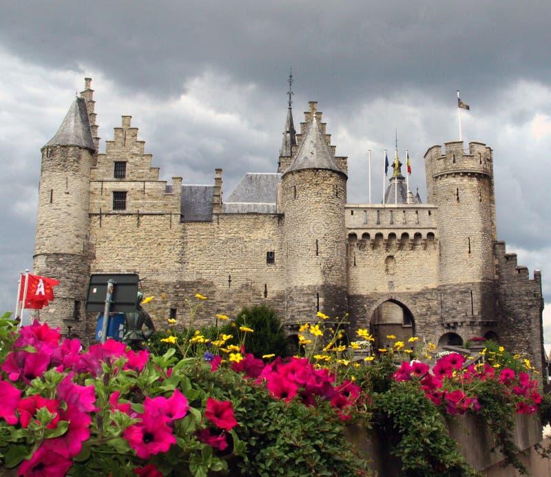Castelo de Steen, Antuérpia Bélgica imagens de stock royalty free