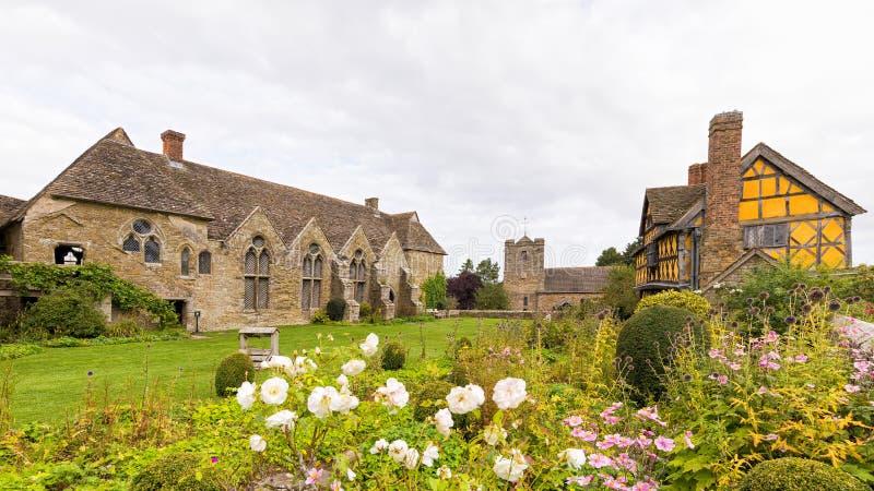 Castelo de Stokesay, Shropshire, Inglaterra fotografia de stock royalty free