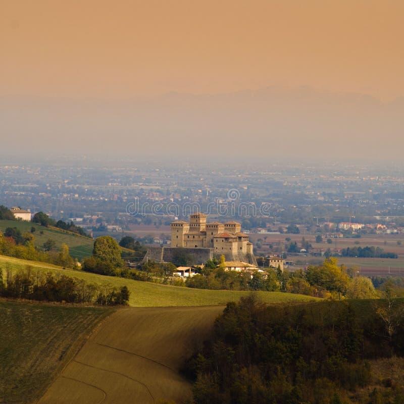 Castelo de Torrechiara foto de stock royalty free