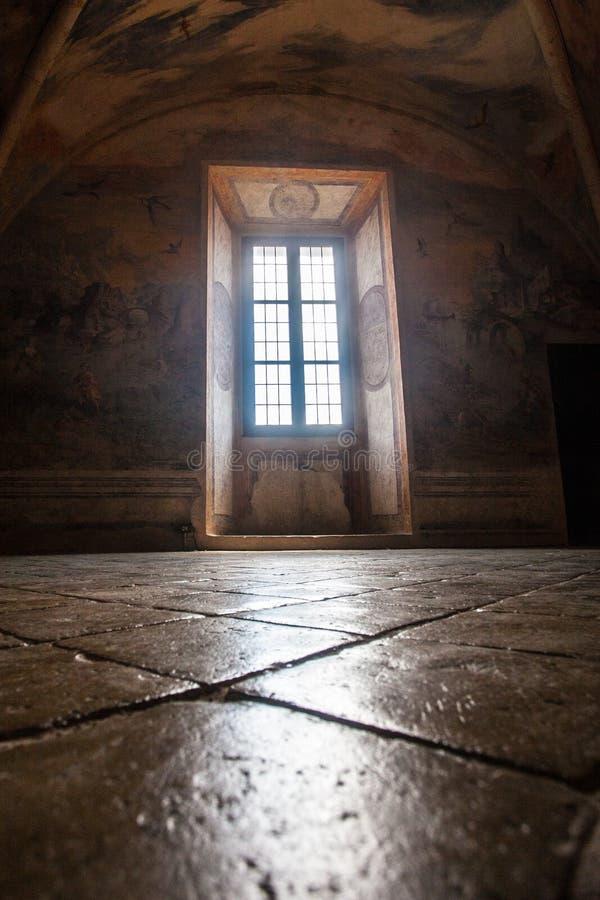 Castelo de Torrechiara na província de Parma, Emilia Romagna Italy imagem de stock