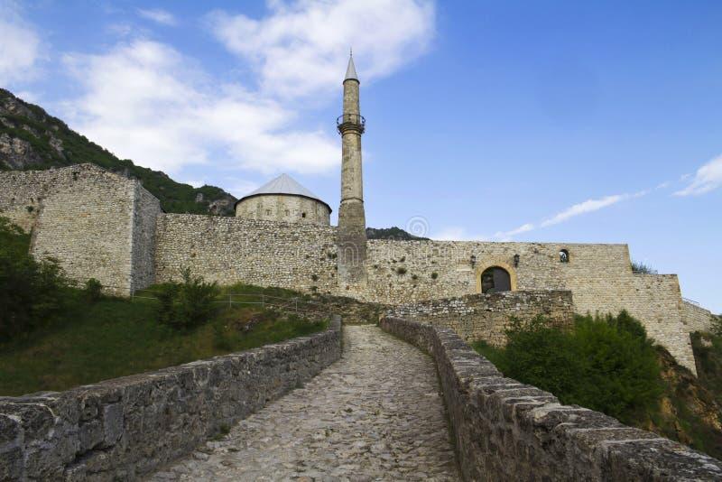 Castelo de Travnik fotografia de stock royalty free