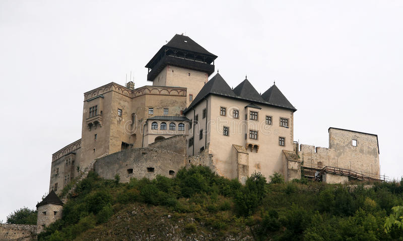 Castelo de Trencin fotografia de stock