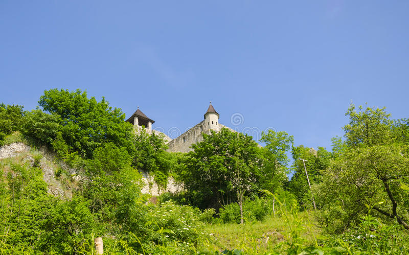 Castelo de Trencin, Eslováquia imagem de stock royalty free
