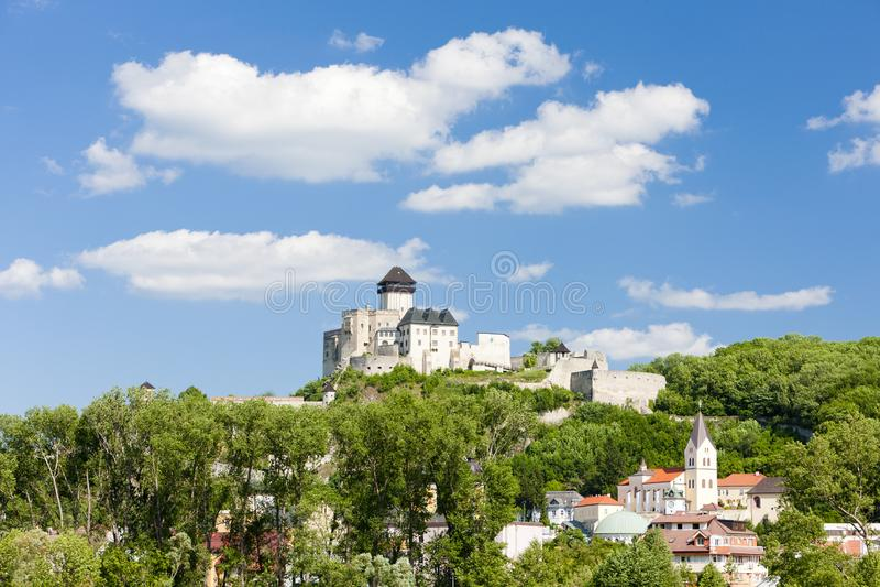Castelo de Trencin, Eslov?quia fotografia de stock