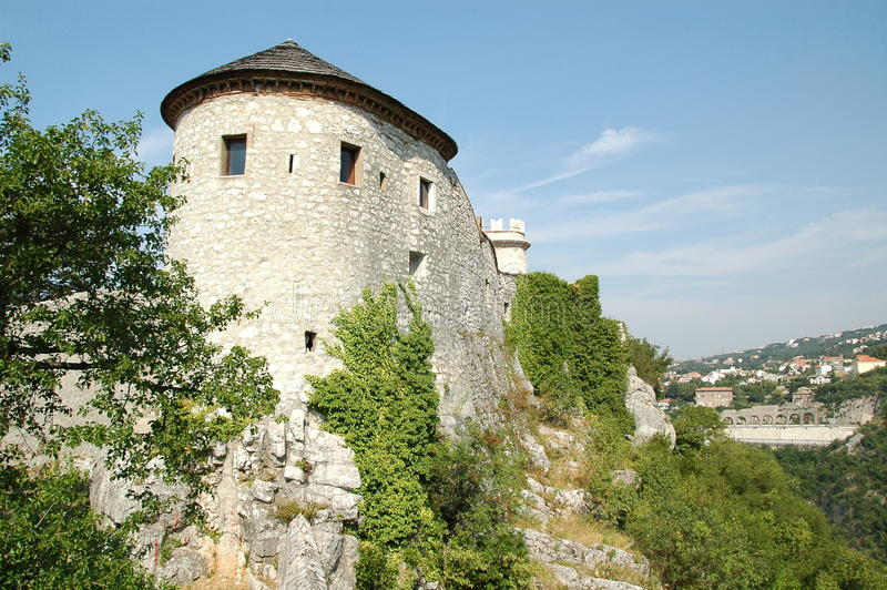 Castelo de Trsat em Rijeka, Croácia fotos de stock