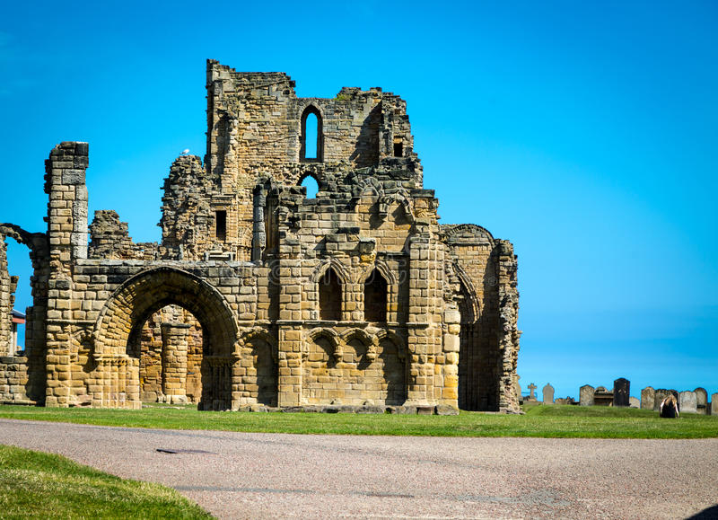 Castelo de Tynemouth - Northumberland foto de stock royalty free