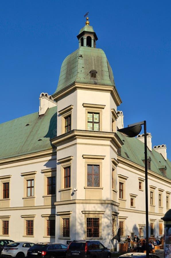 Castelo de Ujazdowski em Varsóvia (Polônia) imagem de stock royalty free