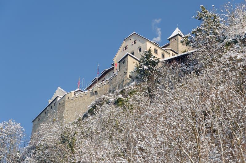 Castelo de Vaduz em Lichtenstein imagens de stock
