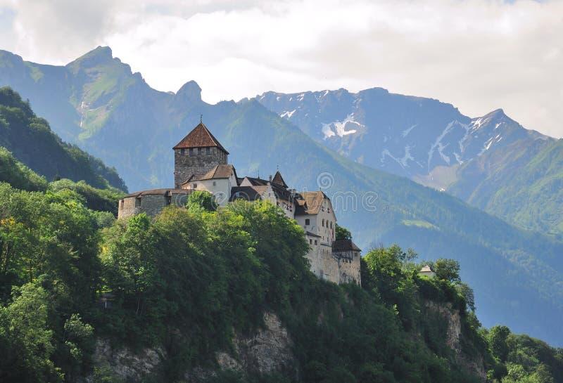 Castelo de Vaduz, Lichtenstein imagens de stock