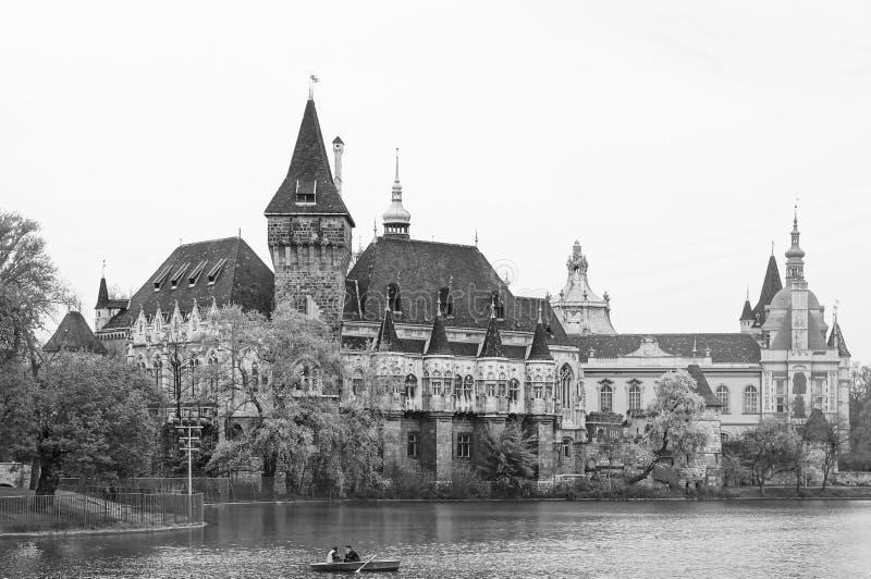 Castelo de Vajdahunyad em Budapest, Hungria fotos de stock royalty free