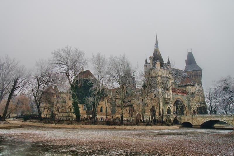 Castelo de Vajdahunyad em Budapest, Hungria imagens de stock