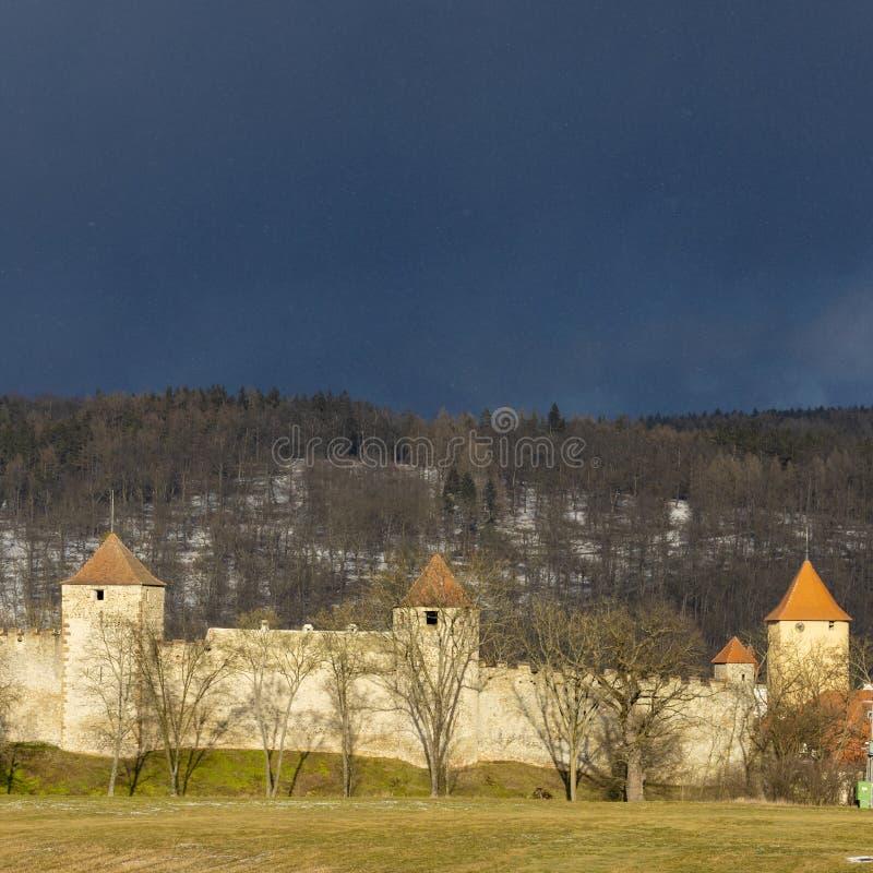 Castelo de Veveri em Moravia sul, Rep?blica Checa imagem de stock royalty free