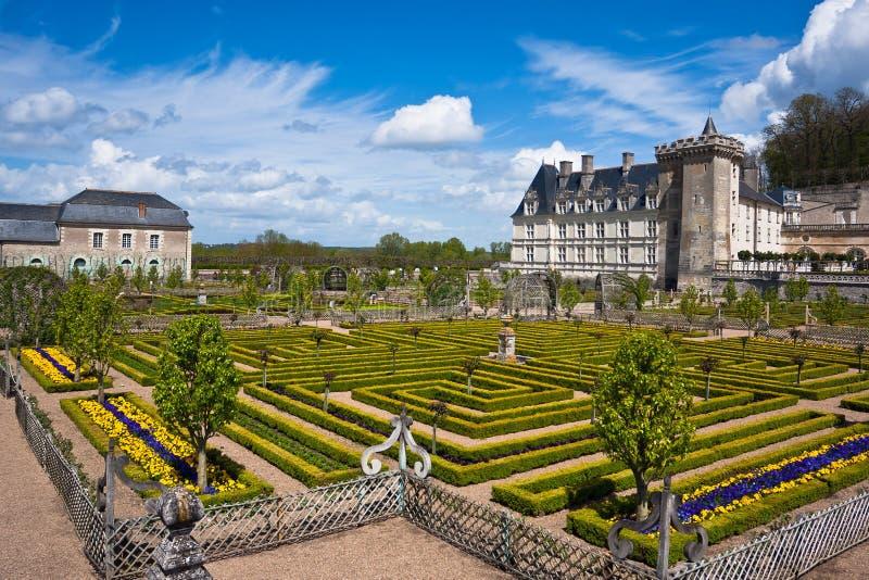 Castelo de Villandry no departamento do Indre-et-Loire, France. imagens de stock royalty free