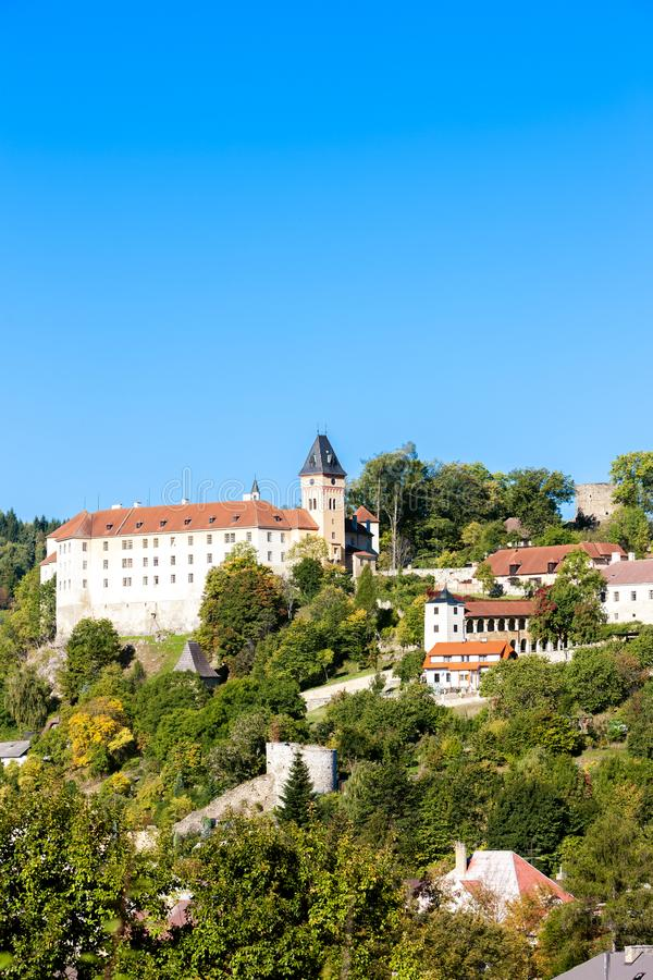 Castelo de Vimperk, República Checa fotografia de stock