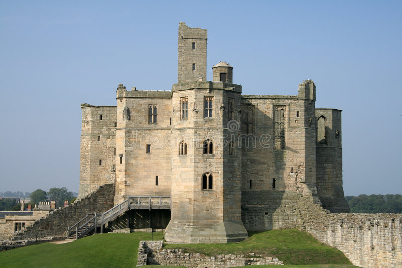 Castelo De Warkworth Imagens de Stock