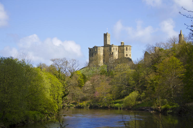 Castelo de Warkworth fotos de stock royalty free