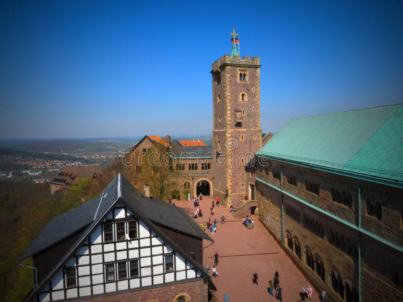 Castelo de Wartburg - Alemanha 2019 fotos de stock royalty free