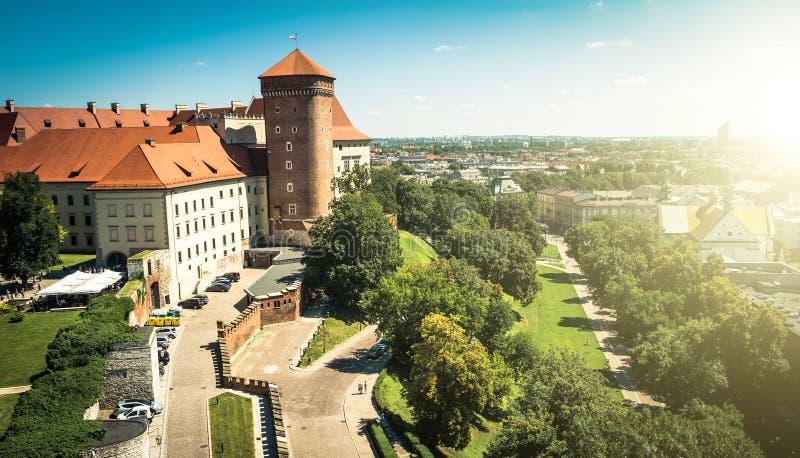 Castelo de Wawel em Krakow fotos de stock royalty free