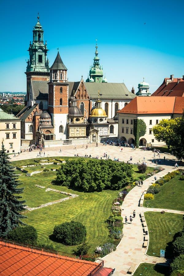 Castelo de Wawel em Krakow foto de stock