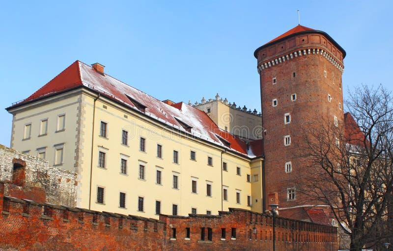 Castelo de Wawel no inverno foto de stock