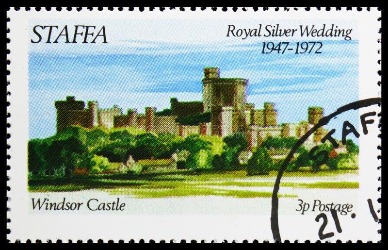 Castelo de Windsor, casamento de prata real, serie de Staffa Escócia, cerca de 1972 fotos de stock royalty free