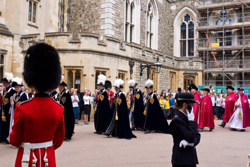 Castelo de Windsor do dia da liga fotografia de stock