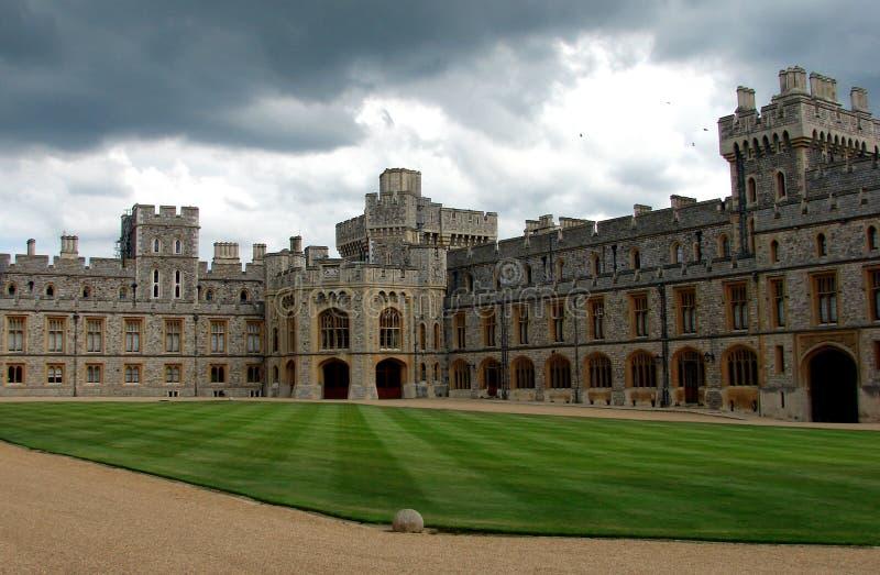 Castelo de Windsor o pátio fotografia de stock