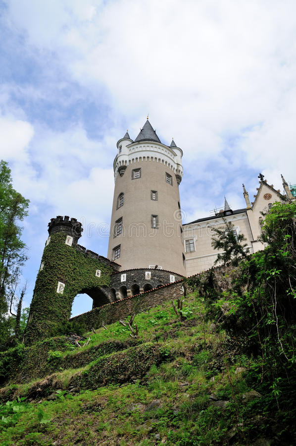 Castelo de Zleby fotografia de stock