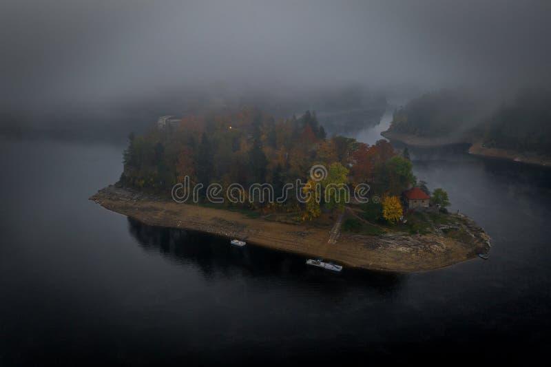 Castelo de Zvikov no sul de Bo?mia em Rep?blica Checa imagens de stock
