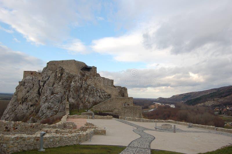 Castelo Devin imagens de stock royalty free
