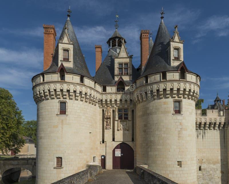 Castelo Dissay França do castelo da entrada foto de stock