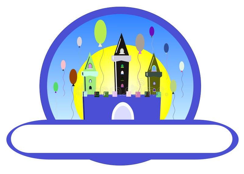 Castelo do aniversário ilustração stock