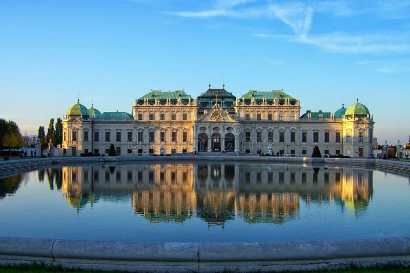 Castelo do Belvedere em Viena fotografia de stock