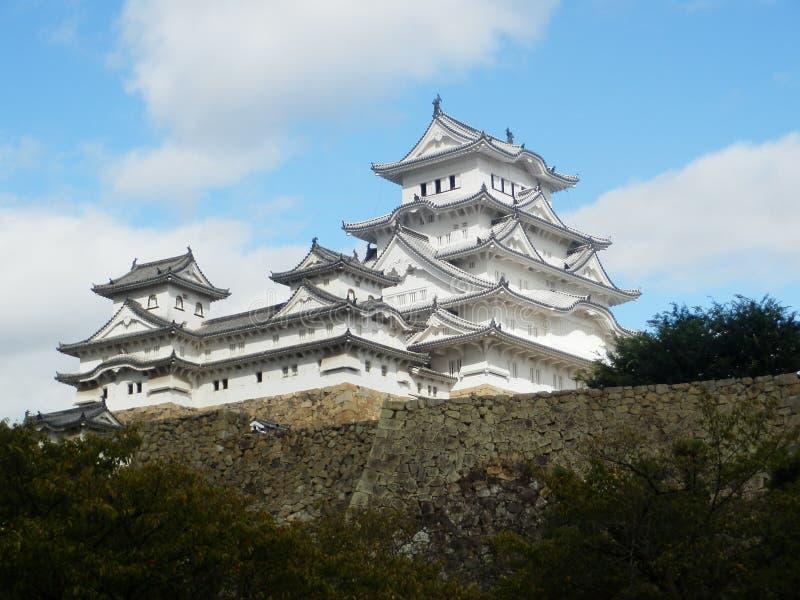 Castelo do branco de Himeji imagem de stock royalty free