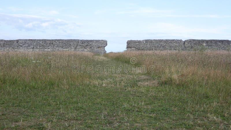 Castelo do Burgh, Roman Ruins antigo, Norfolk Inglaterra 2 fotos de stock royalty free