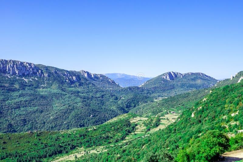 Castelo do cathar de Peyrepertuse imagem de stock royalty free