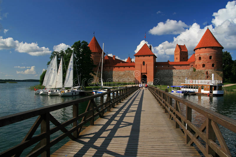 Castelo do console de Trakai fotografia de stock