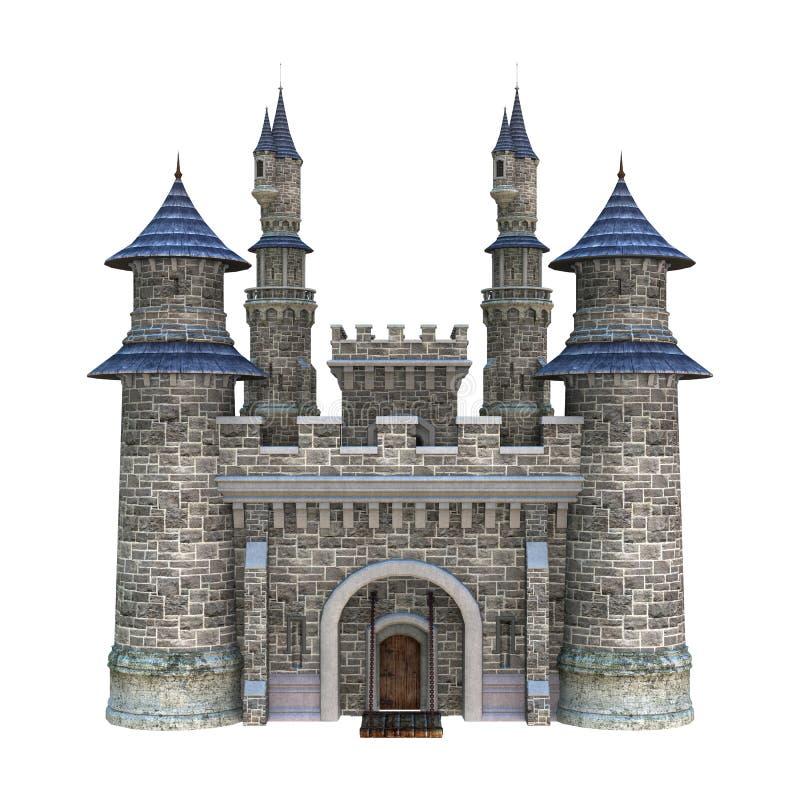 Castelo do conto de fadas ilustração do vetor