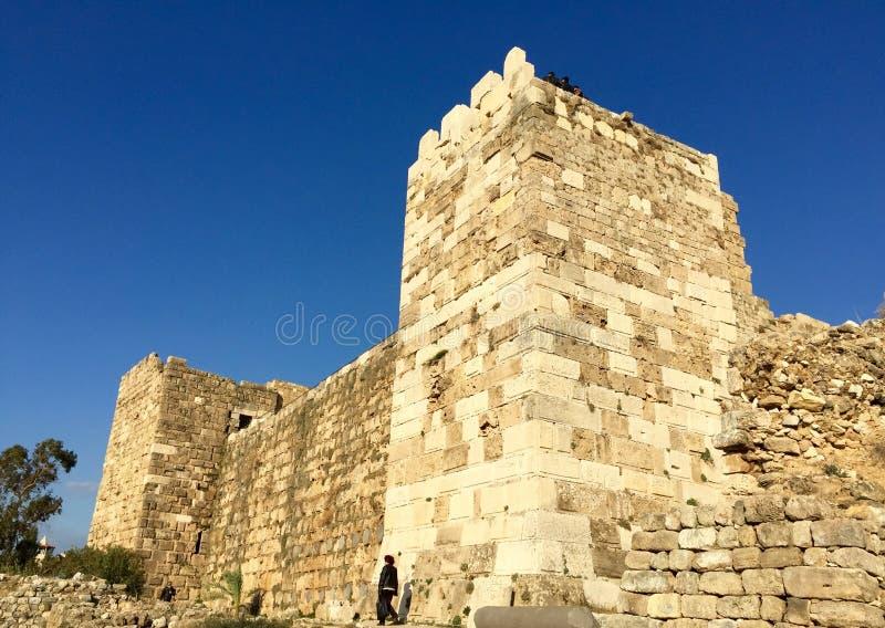 Castelo do cruzado de Byblos, Líbano fotografia de stock royalty free