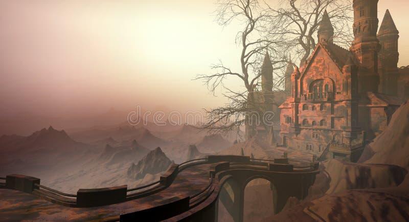 Castelo do deserto ilustração royalty free