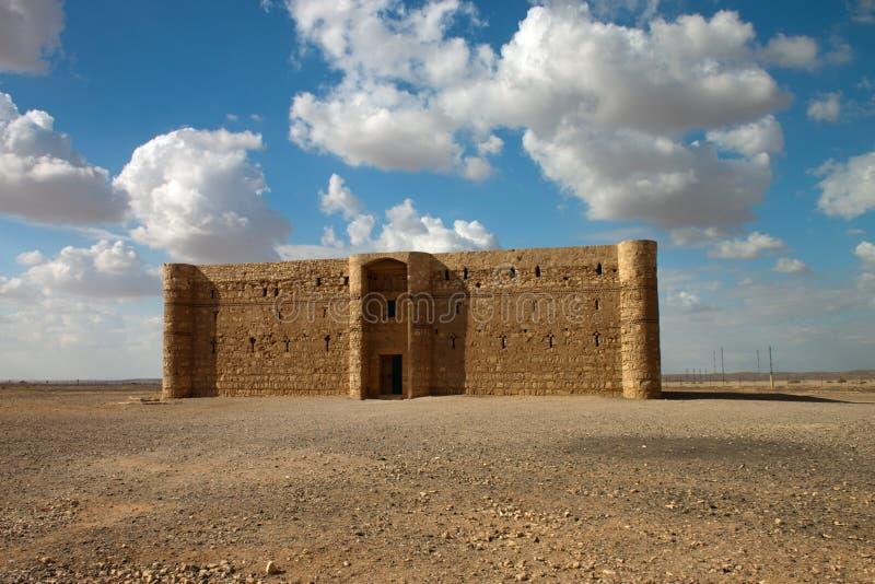 Castelo do deserto de Kaharana em Jordão fotografia de stock royalty free