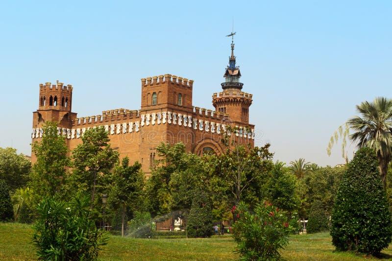Castelo do dragão de Barcelona três, Spain fotografia de stock