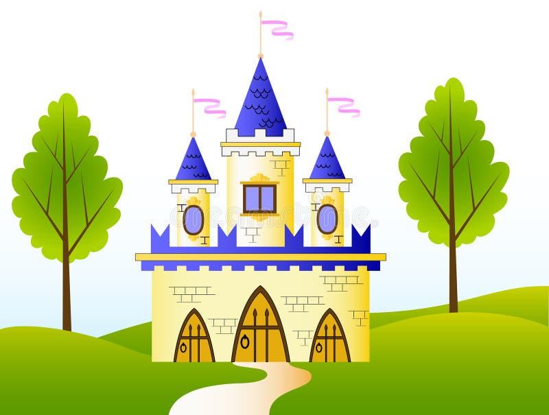 Castelo do Fairy-tale ilustração stock