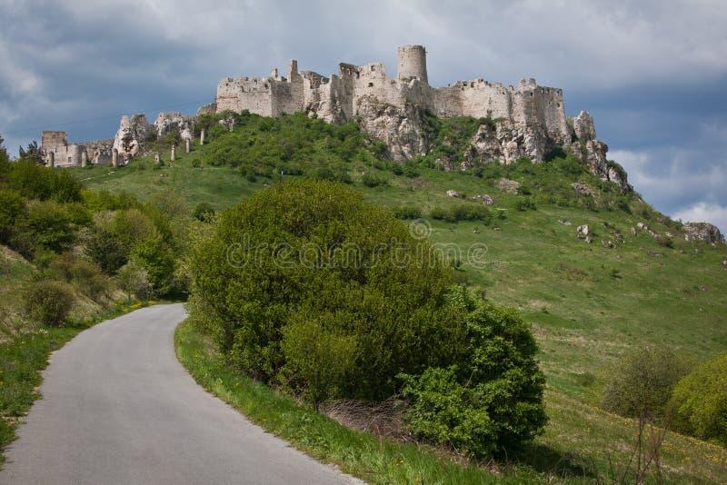 Castelo do hrad de Spissky em Slovakia, fotos de stock